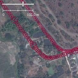 Verschobene Position durch EGNOS außerhalb des versorgten Gebiets