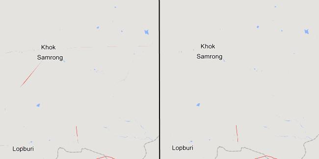 Eine kleine Verschiebung der Karte beseitigt Farbsäume.